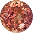 Gorgeous Peachy Pink Loose Cut Sapphire Round Shape Gem with GIA Certificate, 5.99 x 6.04 x 3.97 mm, 1.15 carats