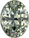 Unusual Silvery Green Sapphire GIA Unheated Gem in Oval Cut, 8.63 x 6.53 x 4.73 mm, 2.23 carats