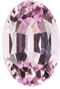 Very Sharp Graceful Long Oval Genuine Strong Pink Topaz, 10.8 x 7.3mm, 3.63 carats