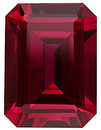 Imitation Ruby Emerald Cut Gems
