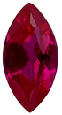 Imitation Ruby Marquise Cut Gems