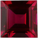 Imitation Ruby Square Cut Gems