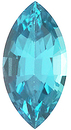 Imitation Blue Zircon Marquise Cut Gems