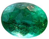 Low Price on Gem Rich Green Zambian Emerald Gemstone, Oval Cut  1.70 carats - SOLD
