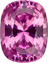 Outstanding GEM! Terrific Cut and Color, Pretty Pink Sapphire Genuine Gemstone from Ceylon, Cushion Cut, 1.26 carats