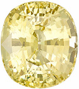 Ceylon Origin Stunning Brilliance in Large Unheated Yellow Sapphire from Sri Lanka, Cushion cut, 9.13 carats