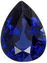 Fantastic Rich Royal Blue Kanchan Sapphire - Great Outline & Pretty Stone, Pear Cut, 7.9 x 6 mm, 1.36 carats