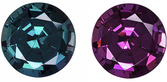 Gubelin Certified Perfect Alexandrite Engagement Stone in Round Cut, Hard to Find Shape, 6.1 x 6.2 mm, 1.08 carats
