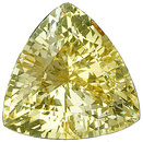 Unbelievable Color! Unheated Lively, Intense Pastel Yellow Sapphire Genuine Gem,  Trillion Cut, 3.97 carats