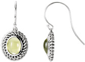 Wire Back Dangle Rope Style Earrings Mounting for Oval Shape Centergems Sized 8.00 x 6.00 mm to 9.00 x 7.00 mm - Customize Metal or Gem Type
