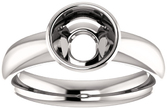 Bezel Set Solitaire Ring Mounting for Round Shape Centergem Sized 5.20 mm to 10.00 mm - Customize Metal, Accents or Gem Type