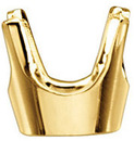 Super Classic 14kt Gold 4-Prong Heavyweight Low Base Setting for Round Gemstone Sized 1.00 mm to 8.20 mm