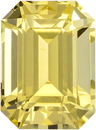 Untreated Pure Yellow Sapphire Gem in Classic Emerald Cut, GIA Cert, 6.37 x 4.73 mm, 1.19 carats