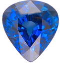 Enchanting Pretty Deep Blue Sapphire Natural Gemstone for SALE, Pear Shape, 1.87 carats