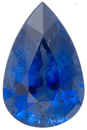 Lovely Classic Blue Sapphire Natural Gemstone for SALE, Pear Shape, 2.23 carats