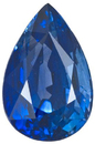 Magnificent Blue Sapphire Genuine Gemstone for SALE, Pear Shape, 2.75 carats