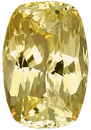 Very Bright, Great Light Performance, No Heat Yellow Sapphire Gemstone, Antique Cushion Cut, 8.72 carats
