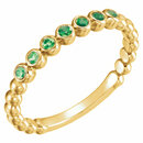 14KT Yellow Gold Emerald Stackable Ring
