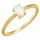 14KT Yellow Gold Opal Cabochon Ring