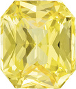 Brilliant Yellow Sapphire Loose Gem in Radiant Cut, Unheated Vivid Pure Yellow Color, 7.55 x 6.44 x 4.38 mm, 2.11 carats - With GIA Certificate