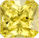 Unique Untreated Sapphire Loose Gem in Radiant Cut, Rich Pure Yellow, 6.42 x 6.09 x 5.41 mm, 2.13 carats - With GIA Certificate