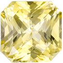 Loose Yellow Sapphire Radiant Cut GIA Gemstone in Vivid Pure Yellow, 9.22 x 9.2 x 6.14 mm, 4.83 carats - With GIA Certificate