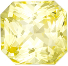 Delicate Yellow Sapphire No Heat Gem in Radiant Cut in Pure Medium Yellow Color in 8.5 x 8.2 mm, 3.63 carats - GIA Certified