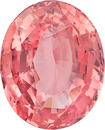 Padparadscha Sapphire with GRS Certificate Oval Cut for Sale in Medium Orange-Pink Color, 7.61 x 6.30 mm, 1.59 Carats - With GRS Certificate