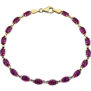 14KT Yellow Gold Created Ruby 7