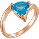 14KT Rose Gold Swiss Blue Topaz Ring