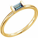 14KT Yellow Gold London Blue Topaz Stackable Ring