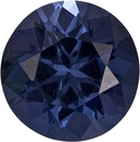 Steely Blue Spinel Loose Gem in Round Cut in Fiery Stone, 5.9 mm, 0.82 carats