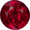 Gemmy Ruby Round Cut Loose Gem in Vivid Red Color, 5.4 mm, 0.86 carats