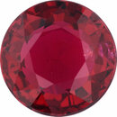 Fine Ruby Loose Gem in Round Cut, Dark Vibrant Red, 5.87 mm, 1.02 Carats