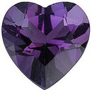 Grade AAA - Heart Genuine Amethyst 4.00 mm to 10.00 mm