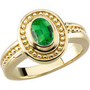 Vintage Style Gold 14kt Yellow Gold Ring set with Natural GEM Grade .3ct 5x3mm Oval Electric Green Genuine Tsavorite Garnet for SALE