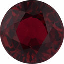 Deal On Ruby Loose Gem in Round Cut, Vibrant Red, 5.49 mm, 1.08 Carats