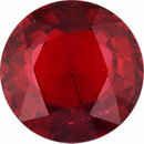 Good Looking Ruby Loose Gem in Round Cut, Vibrant Red, 6.11 mm, 1.15 Carats
