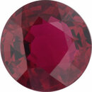 Deal On Ruby Loose Gem in Round Cut, Vibrant Purple Red, 5.97 mm, 1.02 Carats