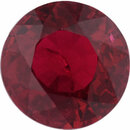 Loose Ruby Loose Gem in Round Cut, Vibrant Red, 5.94 mm, 1.11 Carats