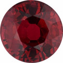 Unique Ruby Loose Gem in Round Cut, Vibrant Purple Red, 6.08 mm, 1.35 Carats