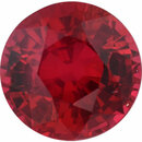 Sharp Ruby Loose Gem in Round Cut,  Vibrant Red, 5.54 mm, 0.91 Carats