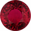 Super Pretty Ruby Loose Gem in Round Cut, Vibrant Red, 5.62 mm, 1.09 Carats