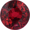 Beautiful Ruby Loose Gem in Round Cut, Vibrant Red, 5.42 mm, 1.03 Carats