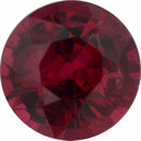 Real Ruby Loose Gem in Round Cut, Dark Purple Red, 5.41 mm, 0.8 Carats