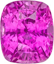 Rich Natural Pink Sapphire Genuine Gem In Cushion Cut, Rich Pink Color in 8.2 x 7.3 mm, 2.72 carats