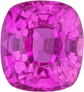 Impressive Vivid Pink Loose Sapphire Gem Cushion Cut, Hot Vivid Pure Pink Color in 7.7 x 7.1 mm, 3.06 carats - With GRS Certificate