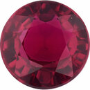 Hard to Find Ruby Loose Gem in Round Cut, Vibrant Red, 5.66 mm, 1.08 Carats