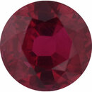 Gorgeous Ruby Loose Gem in Round Cut, Vibrant Red, 5.73 mm, 1.24 Carats
