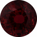 Loose Ruby Loose Gem in Round Cut, Vibrant Red, 5.44 mm, 1.07 Carats